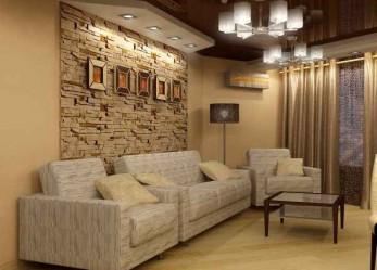 Натяжные потолки в гостиной, фото оригинальных дизайнерских интерьеров