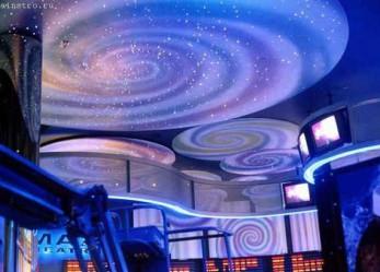 Натяжные потолки с подсветкой фото интерьеров