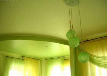 Сатиновые натяжные потолки фото интерьеров