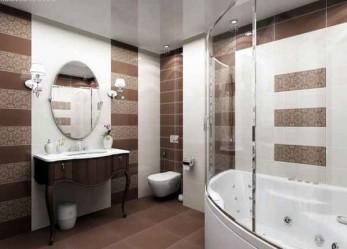 Натяжные потолки в ванной фото интерьеров