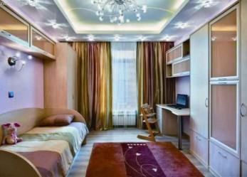 2-х уровневые натяжные потолки фото интерьеров