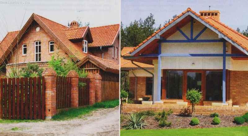 На фото клинкерный кирпич дополняет фасад дома
