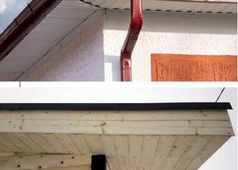 Подшивка карнизного свеса крыши