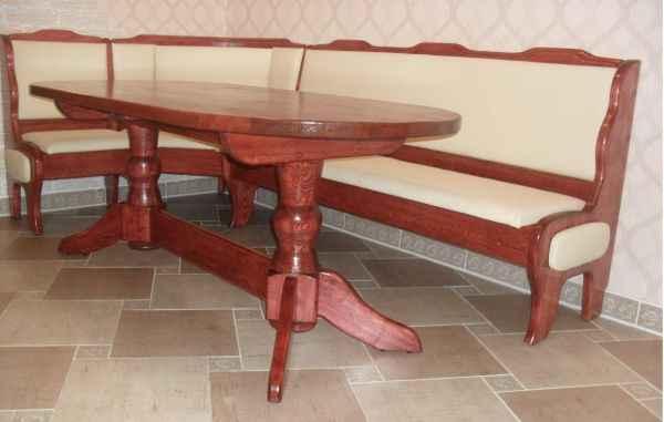 кухонный уголок из сосны со столом