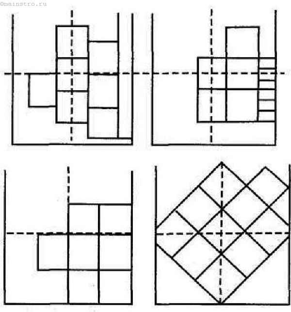 Разметка потолка для плитки