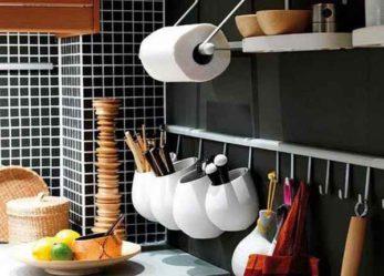 Идеи хранения продуктов и кухонной утвари.