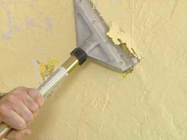 Удаление масляной краски со стен