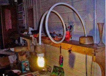 Светильник из трубы