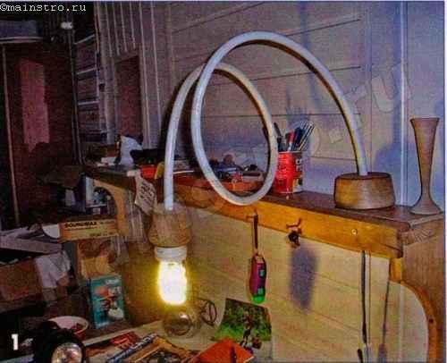 Светильник из металлопластиковой трубы