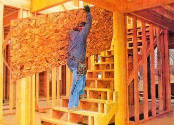 Сооружение прямой одномаршевой межэтажной лестницы