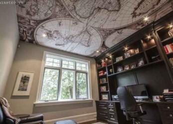 Оригинальный дизайн натяжных потолков, фото авторских интерьеров