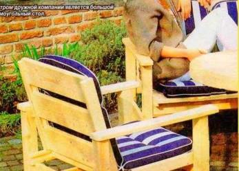 Стол и стулья во двор на вынос
