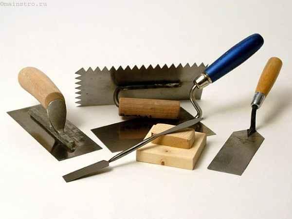 инструменты для работы с штукатуркой