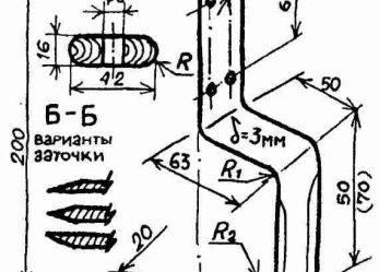 Кочерга Ребристого (плоскорез)