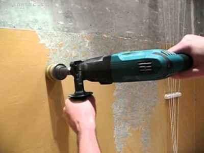 Как снять краску со стен дрелью
