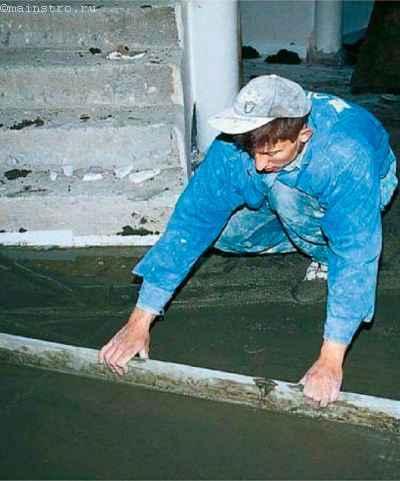 Цементную стяжку можно легко уложить