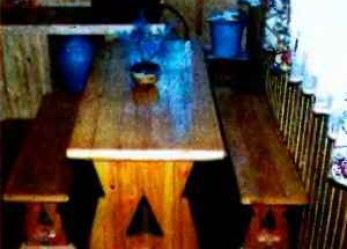 Комплект мебели для столовой дачного домика