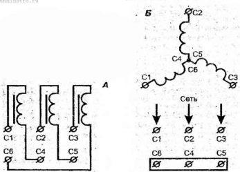 Как включить трехфазный электродвигатель в однофазную сеть