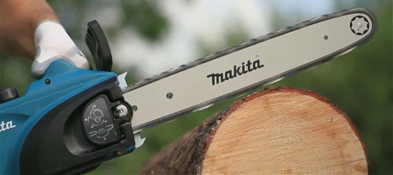 Makita UC4020A распилка деревьев