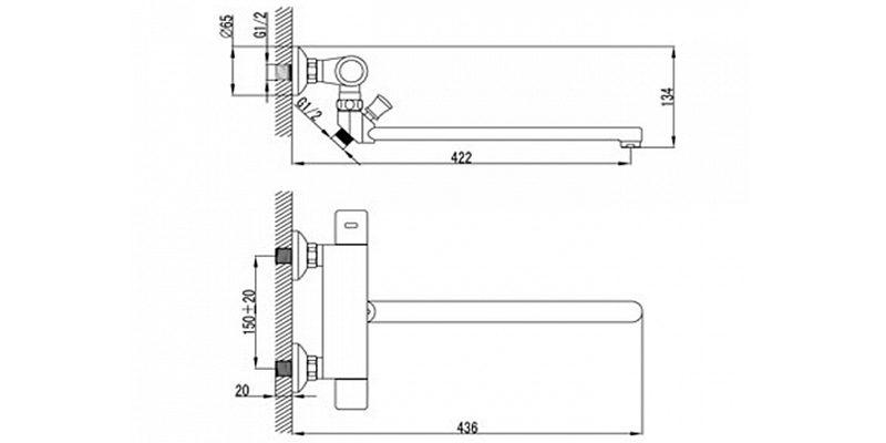 Двухзахватный смеситель Lemark LM7734C