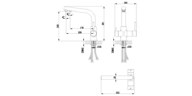 Смеситель для кухни Lemark Comfort LM3061C