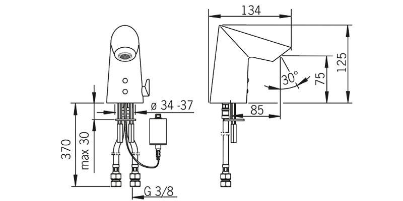 Бесконтактный смеситель для умывальника Oras Optima 1714F