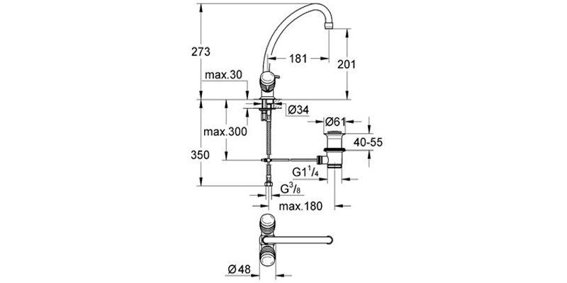 Смеситель для раковины Grohe Costa S 21257001