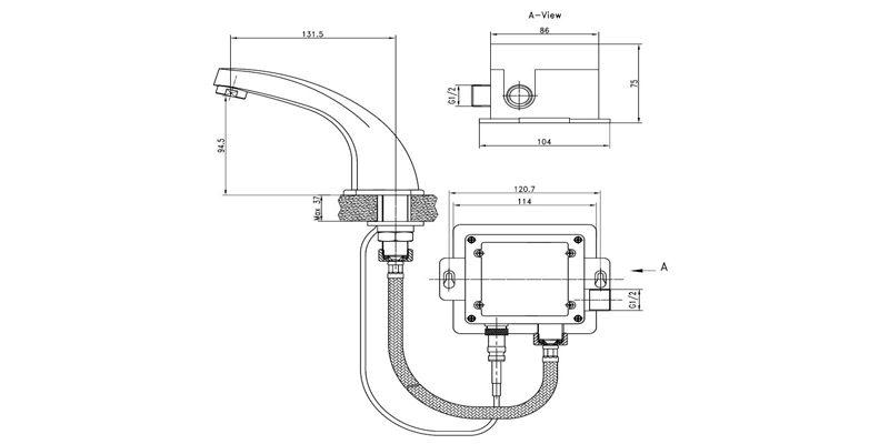 Смеситель для холодной воды Kaiser Sensor 38111