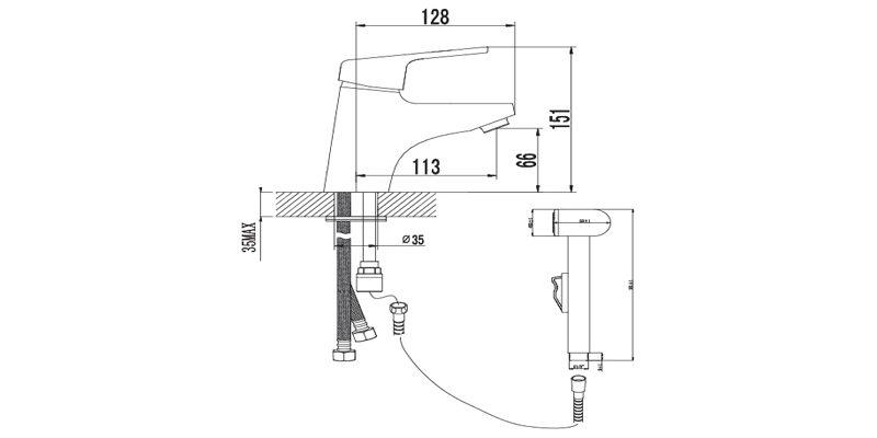 Смеситель для раковины Lemark Luna LM4116С