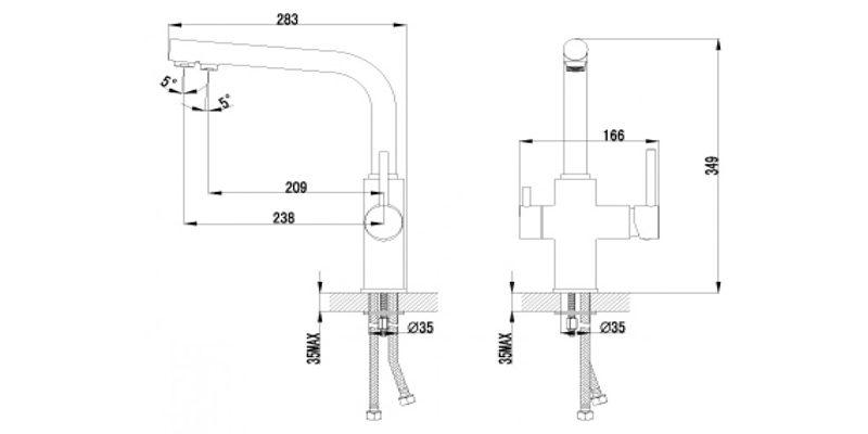 Смеситель для кухни Lemark Comfort LM3060C