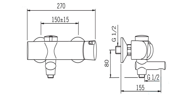 Термостатический смеситель  для душа Oras Eterna 6389U