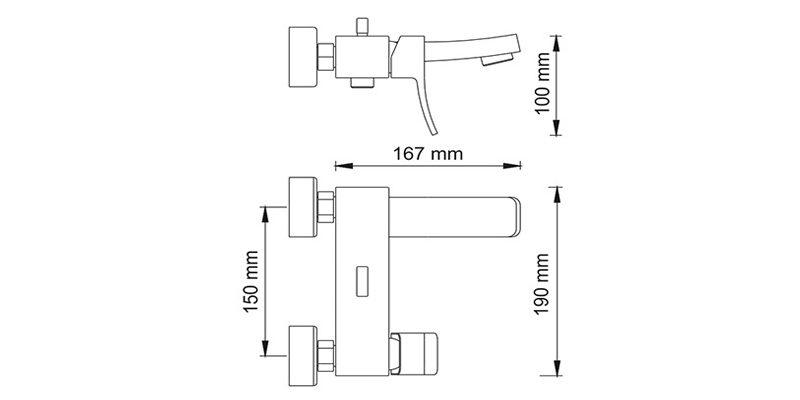 Смеситель для ванной WasserKRAFT Aller 1061