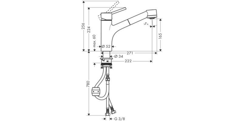 Однорычажный смеситель Hansgrohe Talis S 32841000