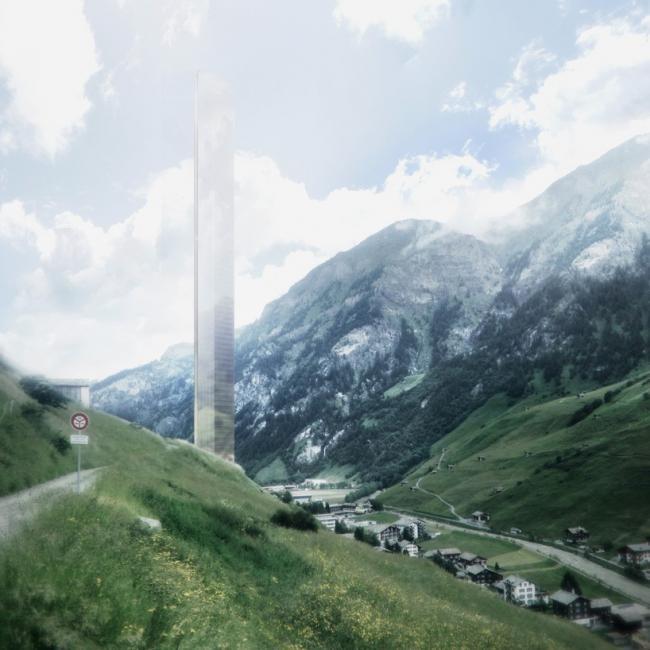 Проект для швейцарской деревушки. Башня 7132