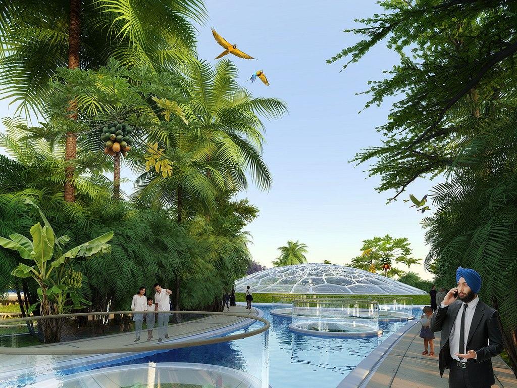 Проект эко-микрорайона Hyperions для Индии от Vincent Callebaut Architectures