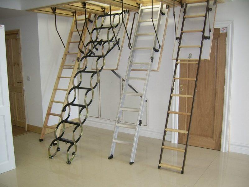 разновидность чердачных лестниц