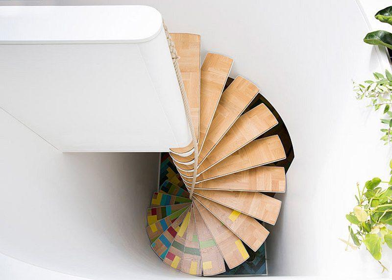 лестница из клееной древесины
