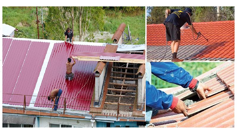 как замазать крышу чтобы не текла