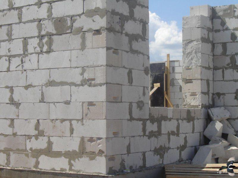 кладка дома из ячеистого бетона