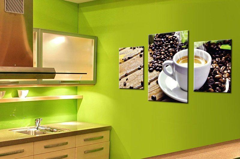 компоновка картин на кухне